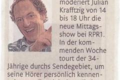 111201 Zeitungs-Hinweis Julian Krafftzig Neuer Nachmittag