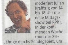 111202 Artikel Rhein-Zeitung RPR1 Julian Krafftzig